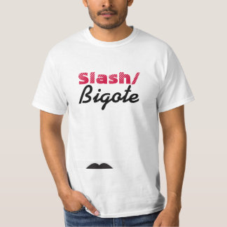 Raya vertical de Bigote/ Camiseta