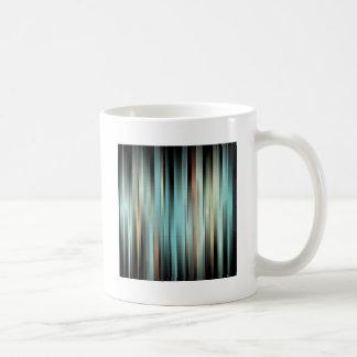 Rayas abstractas coloridas taza de café