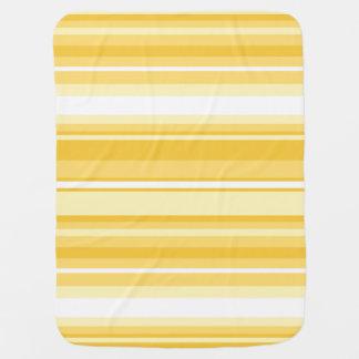 Rayas amarillas mantitas para bebé