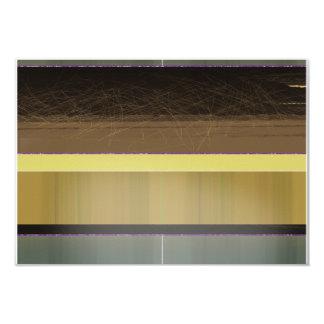 Rayas amarillas y marrones abstractas invitación 8,9 x 12,7 cm