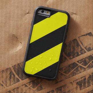 Rayas amonestadoras de la atención negra amarilla funda para  iPhone 6 tough xtreme