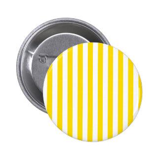 Rayas amplias - blancas y amarillo de oro pins