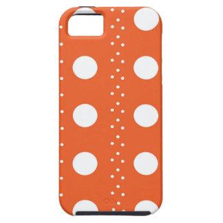 Rayas anaranjadas de Polkadot Funda Para iPhone SE/5/5s