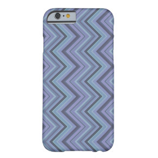 rayas Azul-grises del zigzag Funda Barely There iPhone 6