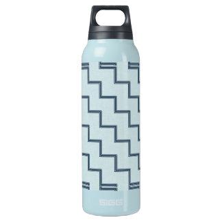 Rayas azules botella de agua