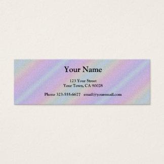 Rayas azules del arco iris del rosa en colores tarjeta de visita pequeña