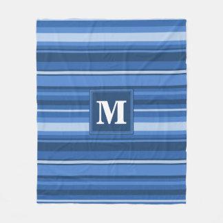 Rayas azules del monograma manta polar