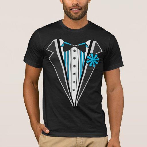 Rayas azules del smoking camiseta