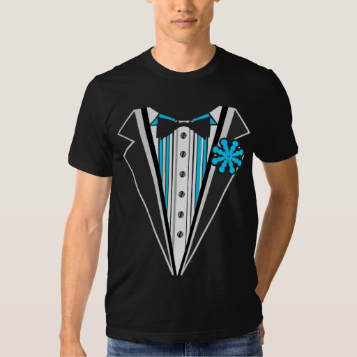 Rayas azules del smoking camisetas
