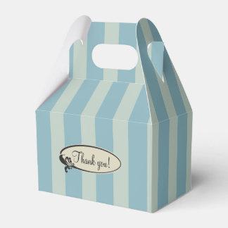 Rayas azules personalizadas del vintage caja de regalos