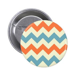 Rayas azules y anaranjadas en colores pastel de Ch Pin