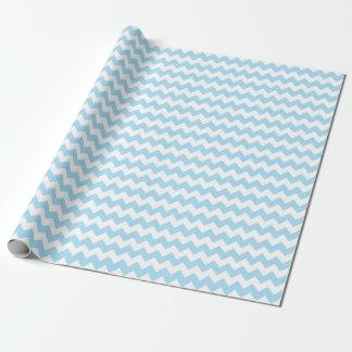 Rayas azules y blancas del bebé del zigzag de papel de regalo