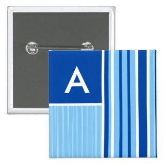 Rayas azules y blancas Rayado Pin