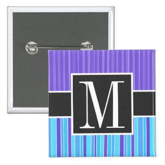 Rayas azules y púrpuras Rayado Pin