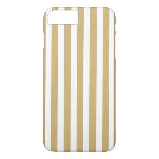 Rayas beige y blancas de color caqui de la cabaña funda para iPhone 8 plus/7 plus