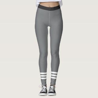 Rayas blancas de la parte inferior tres en leggings