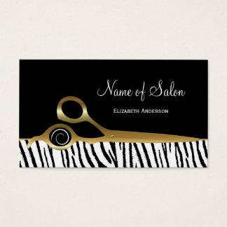 Rayas blancas elegantes del tigre del salón de tarjeta de visita