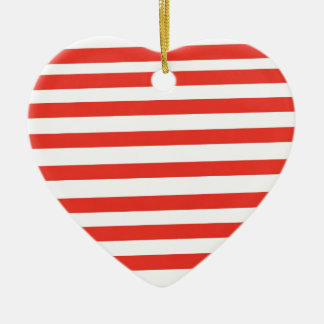 Rayas blancas rojas del marinero adornos de navidad