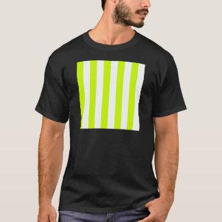Rayas - blancas y amarillo fluorescente camiseta