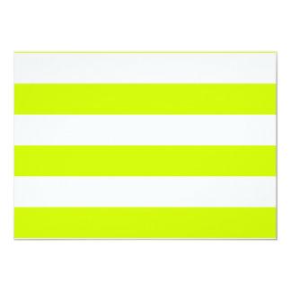 Rayas - blancas y amarillo fluorescente comunicado personalizado