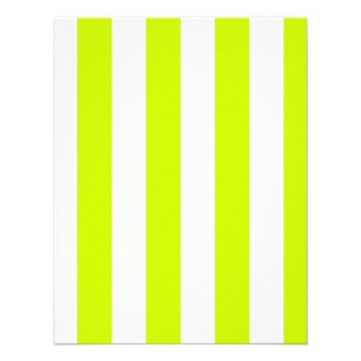 Rayas - blancas y amarillo fluorescente anuncio