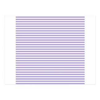 Rayas - blancas y púrpura en colores pastel ligera postales