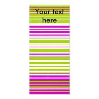 Rayas blancas y rosadas verdes contemporáneas diseño de tarjeta publicitaria