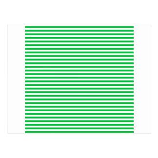 Rayas - blancas y verde en colores pastel oscuro postal
