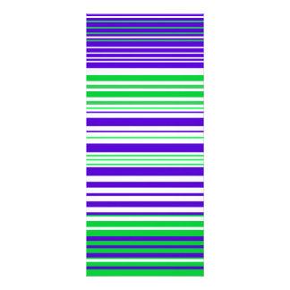 Rayas blancas y verdes púrpuras contemporáneas lonas personalizadas