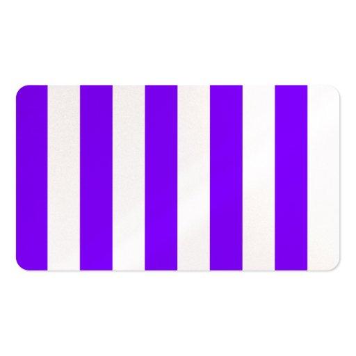 Rayas - blanco y violeta plantilla de tarjeta personal