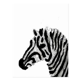 Rayas blancos y negros del estampado de zebra postal
