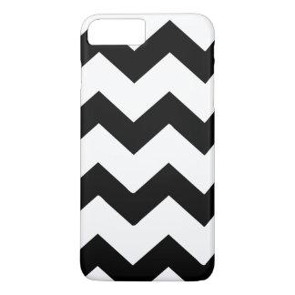 Rayas blancos y negros del galón funda iPhone 7 plus
