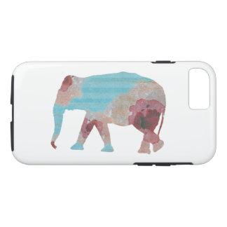 Rayas bohemias elegantes y elefante floral funda para iPhone 8/7