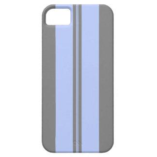 Rayas clásicas en gris y azul claro iPhone 5 cárcasa