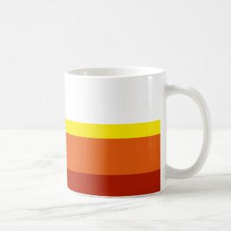 Rayas coloreadas taza de café