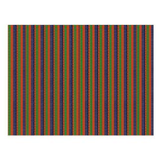 Rayas coloridas de la SOMBRA OSCURA elegante: Postal