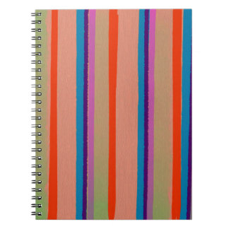 Rayas coloridas del payaso de circo libros de apuntes