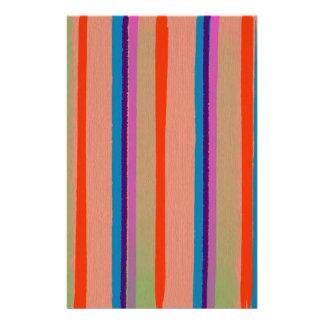 Rayas coloridas del payaso de circo  papeleria