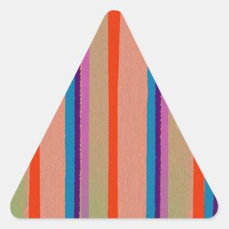 Rayas coloridas del payaso de circo pegatina triangular