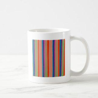 Rayas coloridas del payaso de circo taza básica blanca