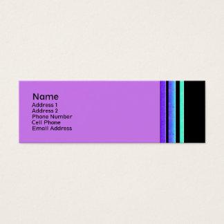 rayas coloridas tarjeta de visita pequeña