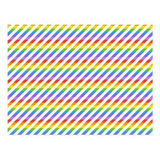 Rayas con colores del arco iris tarjetas postales