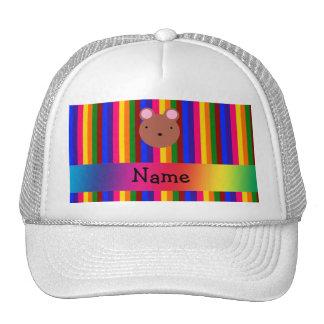 Rayas conocidas personalizadas del arco iris de la gorros bordados