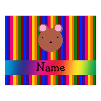 Rayas conocidas personalizadas del arco iris de la postal