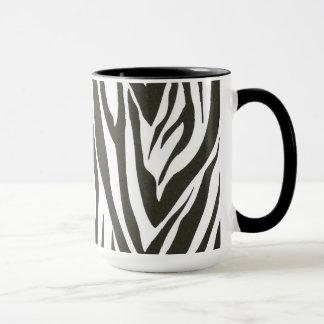 Rayas de la cebra en blanco y negro taza