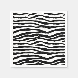 Rayas de la cebra servilletas de papel