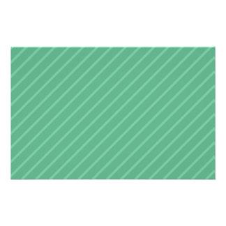 Rayas de la diagonal del verde de jade Modelo Tarjeta Publicitaria