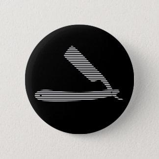 rayas de la maquinilla de afeitar chapa redonda de 5 cm