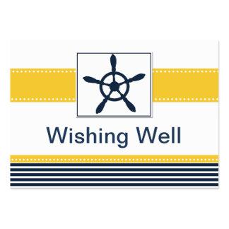 rayas de la marina de guerra, timón, tarjeta bien plantillas de tarjetas personales