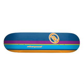 Rayas de la metralla tablas de patinar
